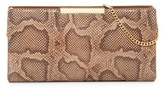 Vince Camuto Tina Snake-Embossed Leather Clutch