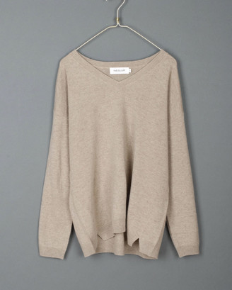 Indi & Cold - Cashmere and Wool Jumper - Umber - Small | wool | cashmere | beige - Beige