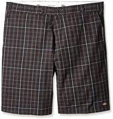 "Dickies Men's Regular Fit 13"" Multi-Use Pocket Plaid Short Big"
