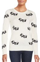 Saks Fifth Avenue Bow Print Long Sleeve Top