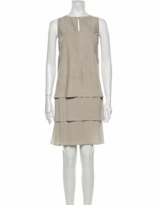 Brunello Cucinelli Leather Knee-Length Dress