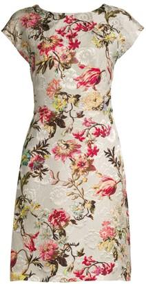 Etro Floral Embroidered Jacquard Sheath Dress