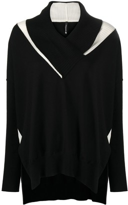Pierantonio Gaspari oversized V-neck jumper