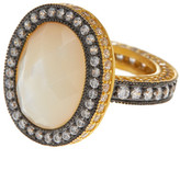 Freida Rothman Harlequin Mother of Pearl & CZ Band Rings - Set of 3