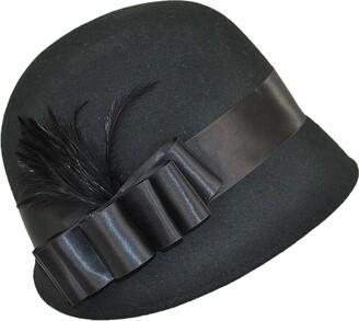 Village Hats sur la tete Womens Chloe Cloche - Black One Size