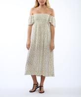 Anama Cream Floral Off-Shoulder Midi Dress