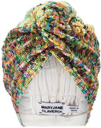 MaryJane Claverol Adele sequinned turban