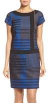 Ellen Tracy Women's Print Stretch Sheath Dress