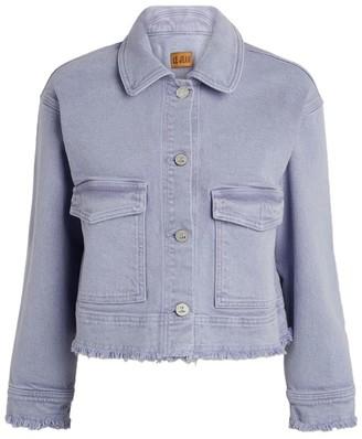 Le Jean Dylan Frayed Denim Jacket
