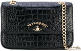 Vivienne Westwood logo plaque shoulder bag - women - Leather - One Size