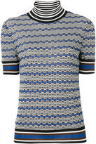 Missoni patterned roll neck top