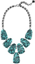 Kendra Scott Harlow Statement Necklace in Variegated Teal Magnesite
