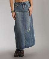 Stetson Blue Denim Maxi Skirt - Plus Too