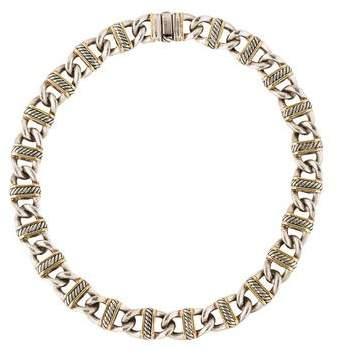 David Yurman Two-Tone Link Collar Necklace