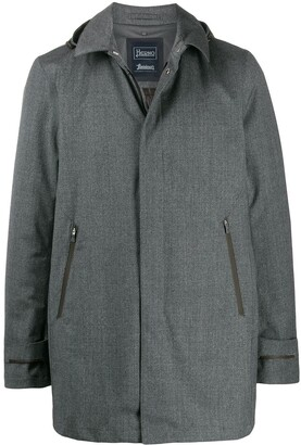 Herno Detachable Hood Shirt Jacket