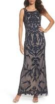 Adrianna Papell Women's Embellished Column Gown