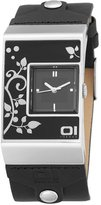 01 The One 01TheOne Unisex AN02M01 Analog Double Screen Black Rose Fashion Watch