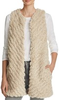 BB Dakota Alphia Angled Faux Fur Vest