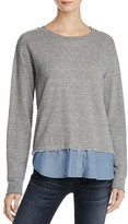 Current/Elliott The Detention Layered-Look Sweatshirt