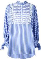 Ermanno Scervino striped oversized shirt - women - Cotton/Brass/Methyl Methacrylate - 48