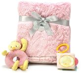 Nurture Plush Baby Blanket & Rattle Toys Gift Set