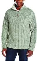 True Grit Men's Frosty Cord Pile 1/4 Zip Pullover
