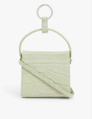 Gu_de Play mini croc-embossed leather top-handle bag