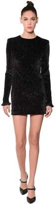 Philosophy di Lorenzo Serafini Cut Out Sparkly Velvet Mini Dress