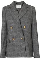 LK Bennett L.K.Bennett Medine Wool Blend Double Breasted Jacket, Check