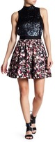 French Connection Midnight Blooms Flare Skirt