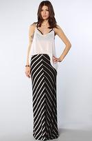 Volcom The Sugarhill Striped Maxi Skirt in Black