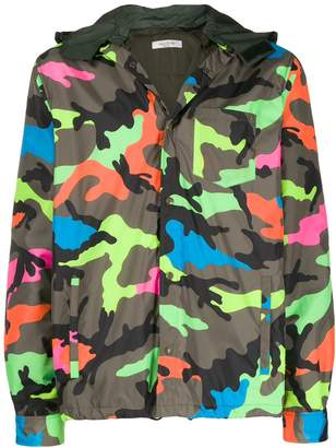 Valentino camouflage print lightweight jacket