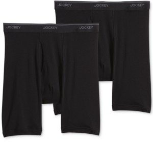 Jockey Big Man 2 pack Staycool+ Cotton Midway Boxer Briefs