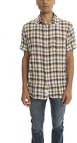 Rag & Bone Short Sleeve 3/4 Placket Shirt in Blue