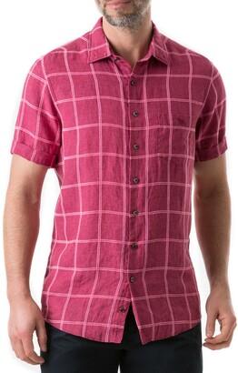 Rodd & Gunn New Windsor Regular Fit Check Linen Blend Shirt