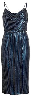 HANEY Elise Sequin Blouson Cocktail Dress