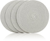 Deborah Rhodes Set of 4 Braided Coasters-GREY