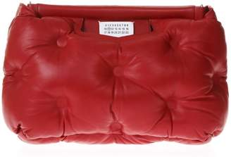 Maison Margiela Glam Slam Red Quilted Bag In Leather