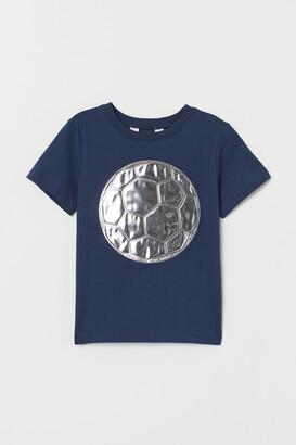 H&M Metallic-design T-shirt