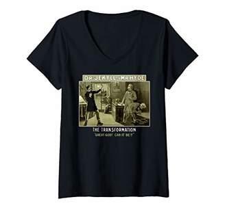 Womens Dr. Jekyll and Mr. Hyde Shirt-Halloween Classic Monster V-Neck T-Shirt