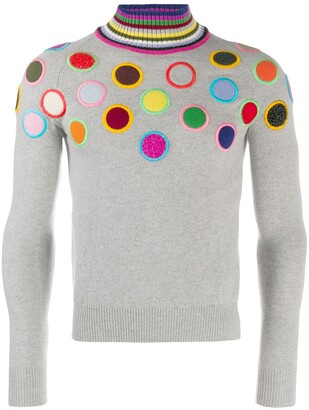 Walter Van Beirendonck Pre Owned 2010/11's Take A W-Ride circle embroidery jumper