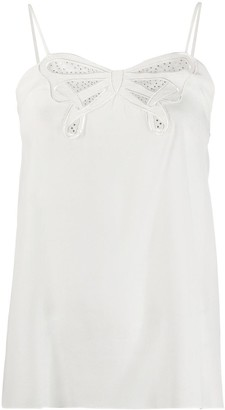 Victoria Victoria Beckham embroidered bow cami top