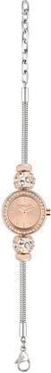 Morellato Drops Women's Quartz Watch with Rose Gold Dial Analogue Display and Silver Stainless Steel Strap R0153122505