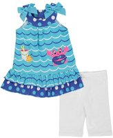 "Nannette Little Girls' Toddler ""Cute Crab"" 2-Piece Outfit"