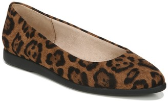 LifeStride Amelia Leopard Print Pointed Toe Flat - Wide Width Available
