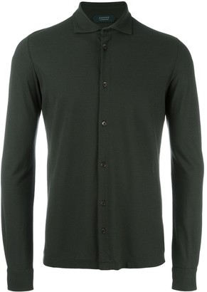 Zanone Pointed Collar Cotton Shirt