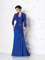 Mon Cheri Cameron Blake by Mon Cheri - 113616 Two Piece Dress In Royal Blue