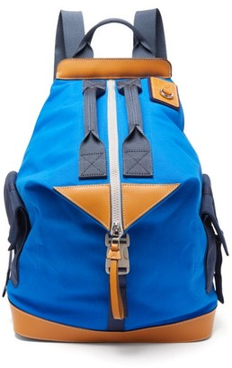 eye/LOEWE/nature Convertible Leather-trimmed Canvas Backpack - Mens - Blue