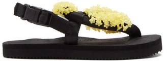 Cecilie Bahnsen X Suicoke Flower-beaded Sandals - Black Yellow