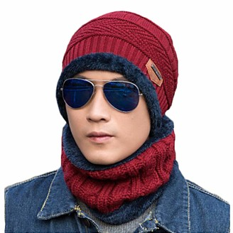 Saniswink Men Women Solid Color Knitted Beanie Cap Warm Woolen Street Outdoor Sport Hat